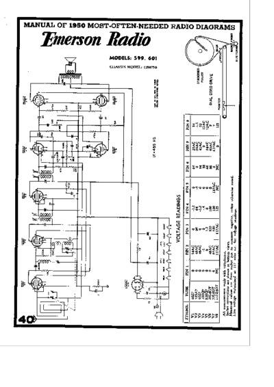 radio emerson 599  service manual  repair schematics