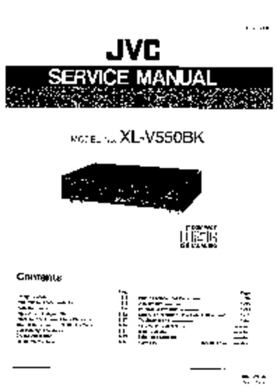 jvc xlv550bk  service manual  repair schematics