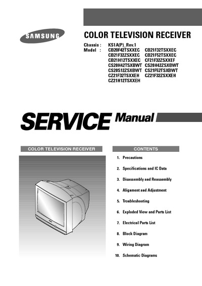 Samsung cb20f42ts chassis ks1a service manual repair for Roca 20 20f manual