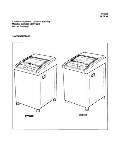 manual brastemp bwq22b  bwr22c  service manual  repair
