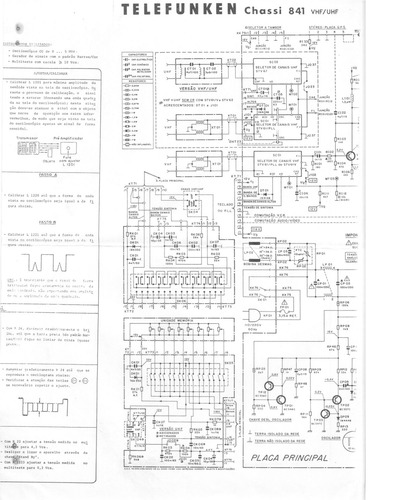 telefunken chassis 841  service manual  repair schematics