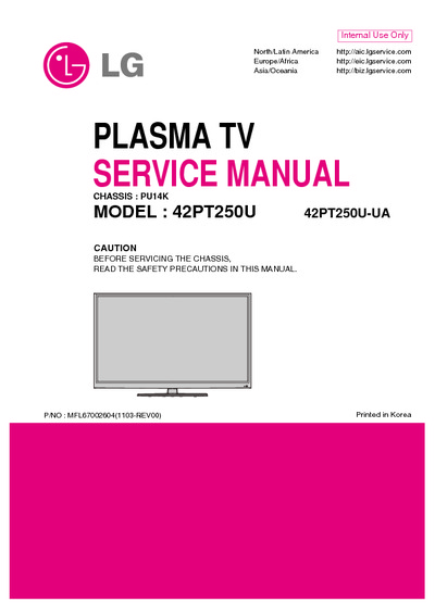 lg 42pt250u ua chassis pu14k service manual repair. Black Bedroom Furniture Sets. Home Design Ideas