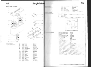 BANG OLUFSEN Beovox S-2200 Service Manual