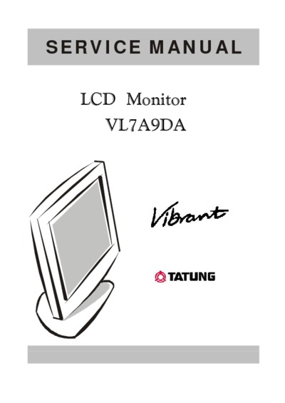 tatung vl7a9da lm700 lcd  service manual  repair schematics
