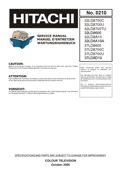 hitachi 32ld8600 chasis vestel 17mb15 5 service manual repair rh electronica pt com Hitachi Excavator Repair Manual Hitachi Repair Manual