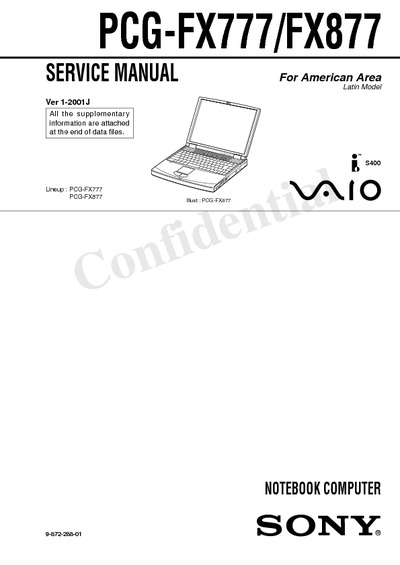Sony PCG-FX777 877 Notebook
