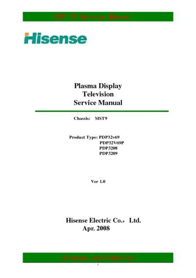 Hisense pdp4220eu service manual