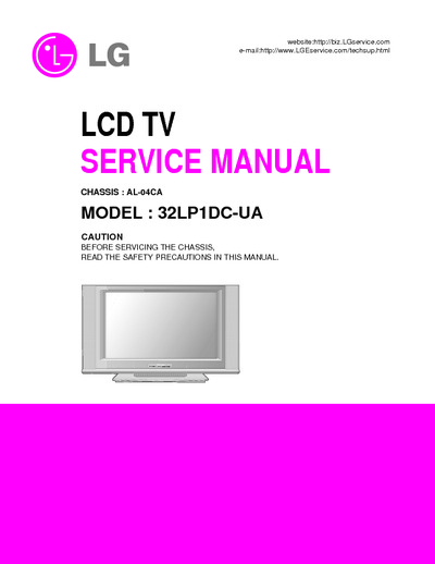 lg 32lp1dc ua chassis al04ca service manual repair. Black Bedroom Furniture Sets. Home Design Ideas