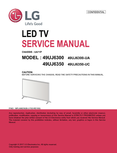 lg 49uj6300 ua 49uj6350 uc chassis ua71p service manual. Black Bedroom Furniture Sets. Home Design Ideas