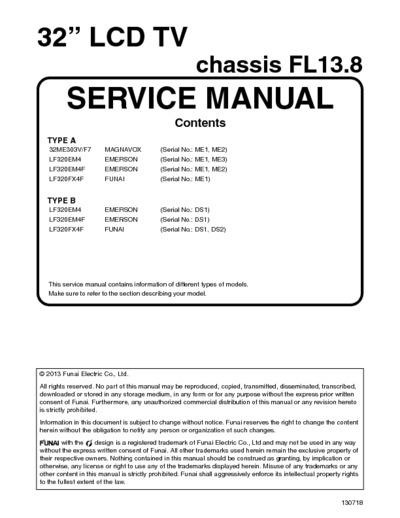 Funai tv Manual lf320fx4f