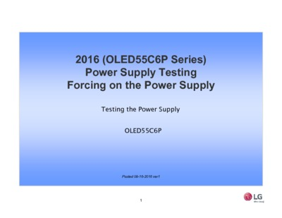 2016 OLED55C6P Series Power Supply Testing
