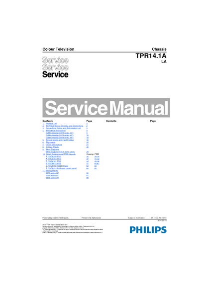 Philips 42PFD5519/30 Chassis TPR14.1