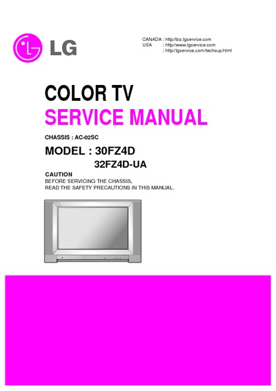 lg 30fz4d chassis ac02sc service manual repair schematics. Black Bedroom Furniture Sets. Home Design Ideas
