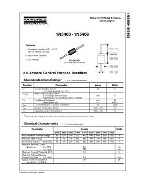 3 Ampere General Purpose Rectifier
