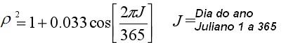 formula distância entre o sol e a terra, duffie e beckman